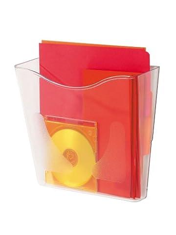 Deflecto A4 Portrait Literature File - Crystal