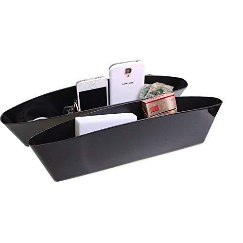 Pouybie 1 Paar Universal Fahrzeug Slim Seat Gap Filler Seat Seite Autositz Catcher Speicherorganisator Car Pocket Box Caddy Konsole Innenraum Sitz Zubehör