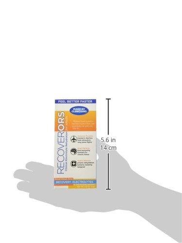 RecoverORS Recovery Electrolytes Rehydration Powder | Alivia los efectos de la Deshidratación y Diarrea. | Sales de Rehidratación Oral Envasadas en Sobre | 100% Electrolitos De Acción Rápida | Fabricado en EE.UU.