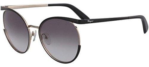 Salvatore ferragamo occhiali da sole sf 165s black gold/grey shaded donna
