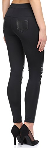 Merry Style Damen Leggings 120-SP Schwarz