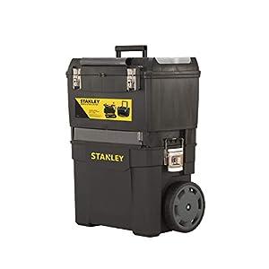 STANLEY 1-93-968 – Taller móvil para herramientas 2 en 1, 47,3 x 30,2 x 62,7 cm