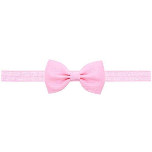 Baby Mädchen Mini Bowknot Haarband, Zolimx Kinder Elastisches Stirnband (Rosa) -