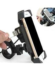 SYSTEM BREAKER® 6 6 6.GPS Universal 360 Degree Bike Mobile Holder Bracket Stand for All Kind of Bikes (Multi-Color) (666 Bike USB with Charger)