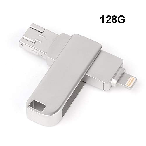 WANGOFUN Memory Stick, USB-Flash-Laufwerk Photo Stick Externer Speicher USB-Stick Kompatibel mit iPhone/Ipad/Ios/Android/Mac/PC,128G -