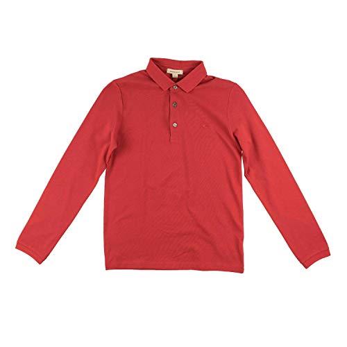 BURBERRY Kinder Jungen Langarm-Polo - rot, Größe:12 Jahre / 152