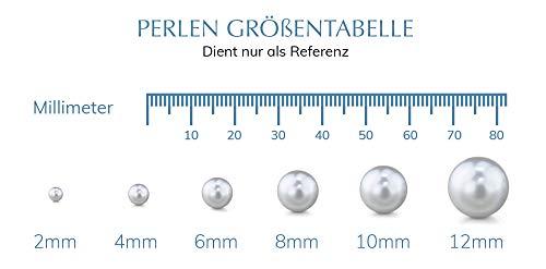 1 Paar Ohrstecker 9 – 10mm Weiße Südsee-Zuchtperlen AAA Qualität – Echtgold - 5