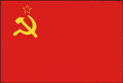 Kommunismus Russischen (Flaggenking UdSSR Sowjetunion Flagge/Fahne - wetterfest, mehrfarbig, 150 x 90 x 1 cm)