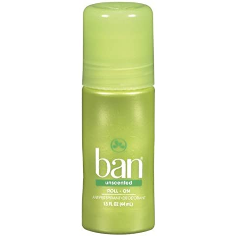 Ban Original Roll-On Antiperspirant & Deodorant, Unscented 1.5 oz (44 ml) by Ban