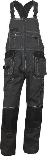 CXS Krystof Pantaloni da lavoro da uomo con tasche per ginocchiere - pantaloni da lavoro molto robusti e resistenti con bretelle pantaloni da giardino cargo (58)