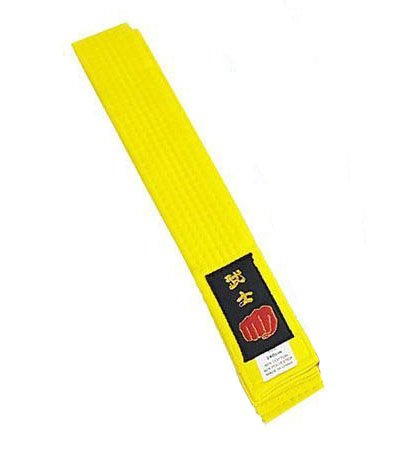 Cintura per karate e arti marziali varie: taekwondo, judo, kickboxing, ju jitsu, stile shotokan, Yellow