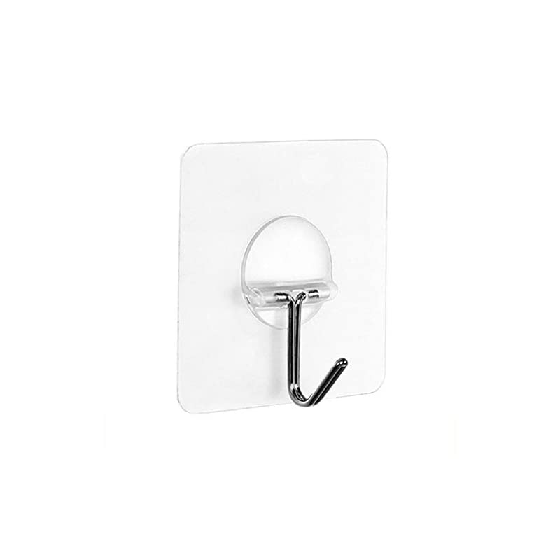 TAOtTAO 8x Strong Transparent Suction Cup Sucker Wall Hooks Hanger For Kitchen Bathroom