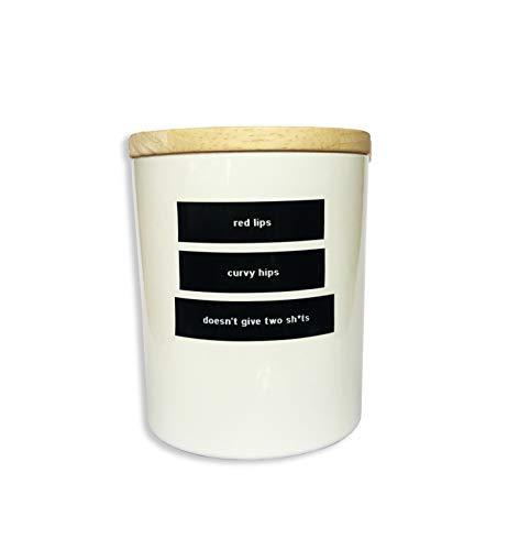 Personalisierte Soja-kerzen (LITWICKS Soy Wax Candle Kerze, Soja-Wachs, weiß Einheitsgröße)