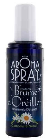 AROMA SPRAY - Spray d'Ambiance - Aromathérapie - Brume d'Oreiller - Sommeil - Relaxant - Calmant - Huiles Essentielles 100% pures et naturelles - 100 ml