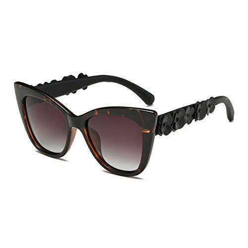 DAIYSNAFDN Cat Eye Sonnenbrillen Frauen Vintage polarisierte Sonnenbrille Blume Brillen C02