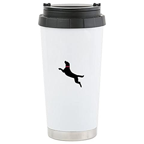 CafePress - Black Dock Jumping Dog - Stainless Steel Travel Mug, Insulated 16 oz. Coffee & Tea
