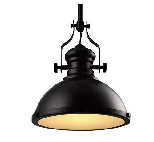 Deckenleuchten Lampen Kronleuchter Pendelleuchten Schmiedeeiserne Leuchte 12,6 Zoll Breite Schwarze Industrielle Pendelleuchte Klassische Leuchte Anti-Aging Anti-Hochtemperatur für Schlafzimmer Wohnz - Schmiedeeiserne Leuchten