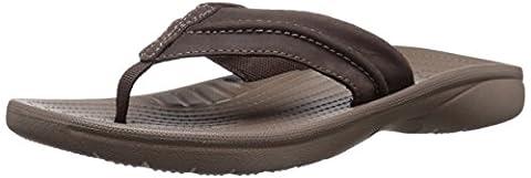 Crocs Yukon Mesa M Men's Flip Flops - Brown (Espresso/Walnut), 10 UK (45-46 EU)