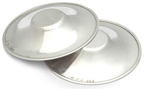Stillhütchen aus reinem Silber 999 SCHUTZ EMPFINDLICHER BRUSTWARZEN RHAGADEN Brusthütchen