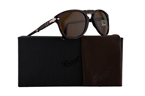 Persol PO0714S Folding Sonnenbrille Havana Braun Mit Polarisierten Braunen Gläsern 54mm 2457 PO 0714S PO0714S PO 0714S
