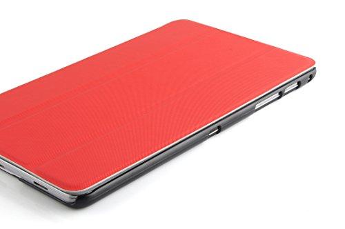 VEO | Flip Cover custodia Smart Case 3 pieghe in Poliuretano e Microfibra per Samsung Galaxy Tab Pro 8.4, ROSSO