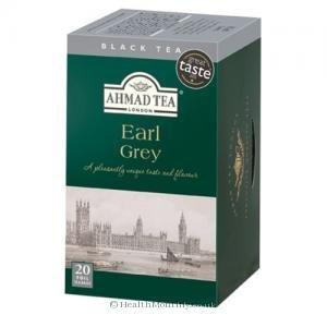 Thé Noir Earl Grey - Ahmad Tea London - Boite de 20 sachets