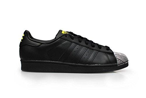 ADIDAS Superstar Pharrell Damen Herren Sneaker S83363 CBLACK/CBLACK/YELLOW S83360