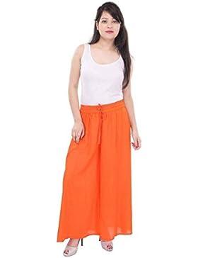 Indian Handicrfats Export Sizzlacious Regular Fit Women's Orange Trousers