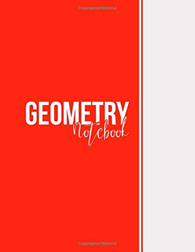 Geometry Notebook: Blank Notebook, Unlined Pages, Large(8.5 x 11 inches), 101 pages, Matte, Red
