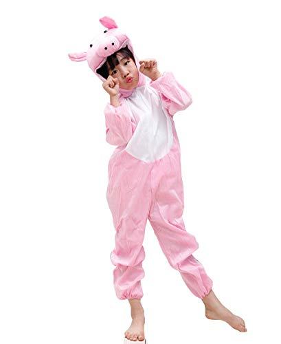 L) Rosa Schwein Kostüm - 5 - 6 Jahre - Karnevalskostüm - Halloween - Mädchen-Kind - Unisex - Cosplay ()