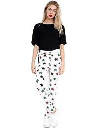 0e83a39888 ROCKBERRY Ladies Star Print Skinny Slim Stretch Jeggings High Waist Jeans