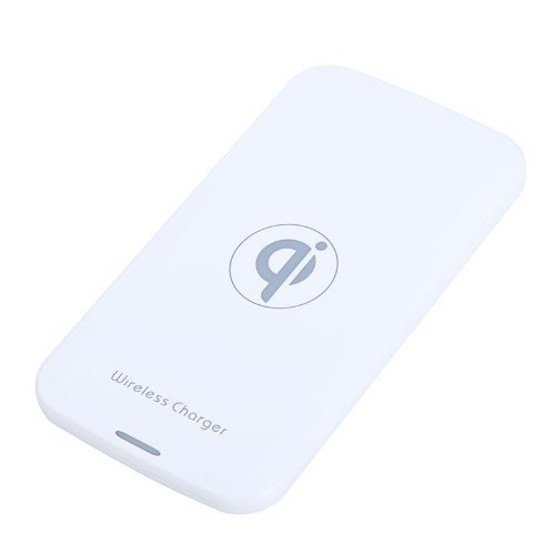 KKmoon 5V Qi Kabellos Ladegräte Ladepad Matte für Nokia Lumia920 LG Nexus4 HTC 8X internationale Ausgabe I9300 N7100 EU Stecker Weiß