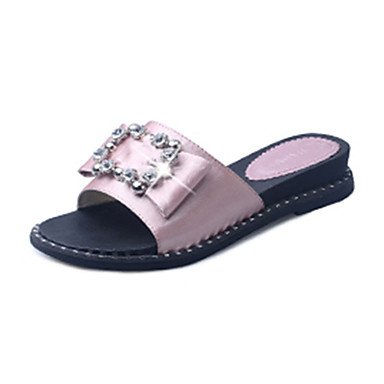 zhENfu Donna Sandali Comfort molla PU Outdoor tacco piatto Blushing Pink