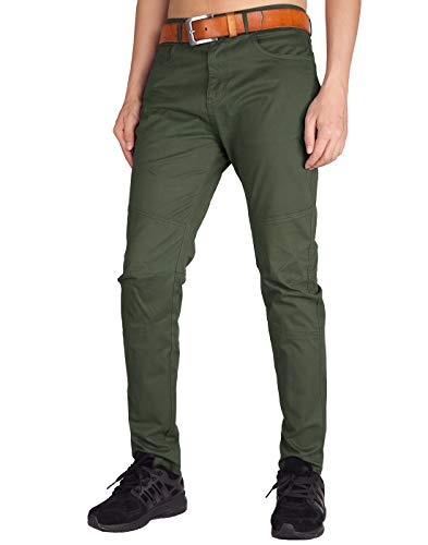 Italy morn uomo pantaloni chino marina militare verde regular fit (esercito verde, 38)