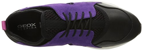 Geox D Omaya Plus A, Baskets Basses Femme Violett (PURPLE/BLACKC8227)