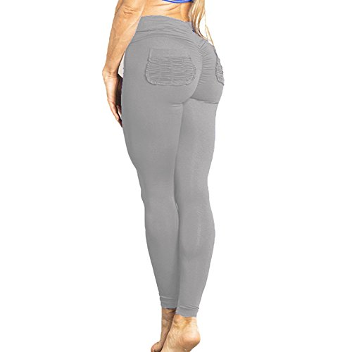Leggings Damen Hoch Taille Jogginghose Frauen Leggins Yoga Hosen Push Up Trainingshose Weich Bequem Stoffhose Elatisch Sporthose Fitness...