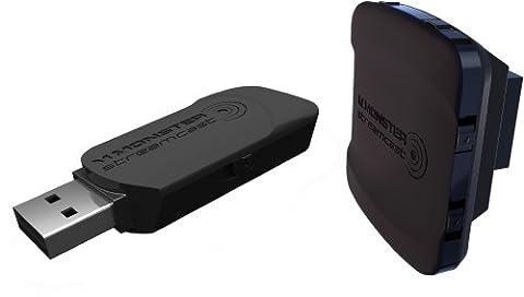 Monster 132909 StreamCast HD USB Remote Kit USB Transmitter und Receiver für Clarity HD Model One und