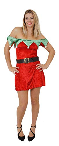 37ef53eb9bb LADIES ELF DRESS FANCY DRESS COSTUME SANTAS GROTTO SANTAS LITTLE HELPER  CHRISTMAS ELF VELOUR QUALITY SEXY