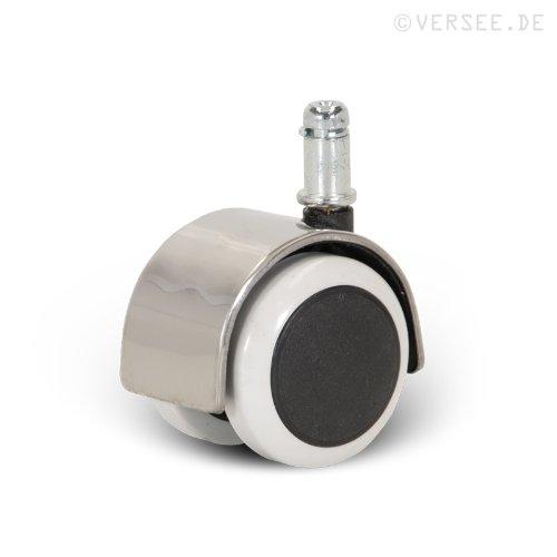 Versee Hartbodenrollen Rollen Parkett Laminat usw. Ø 50mm NEU chrome (5 Stk.)