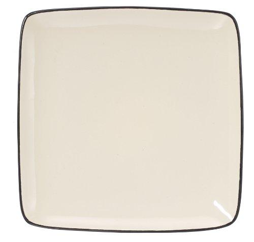 Cuisinart cdst1-dpw Melle (Collection Offene Lager Quadratischer Speiseteller aus Steingut, 26,7cm, cremefarben Vintage Homer Laughlin