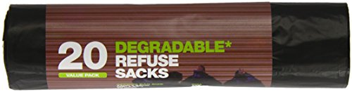 D2W Black Refuse Sacks 20 Pieces (Pack of 5)