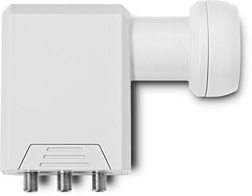 TechniSat SCR LNB - Einkabel-LNB mit 2 Legacy-Ausgängen, Mehrteilnehmer-Versorgung über ein Koax-Kabel, ideal für Multituner-Geräte, weiß