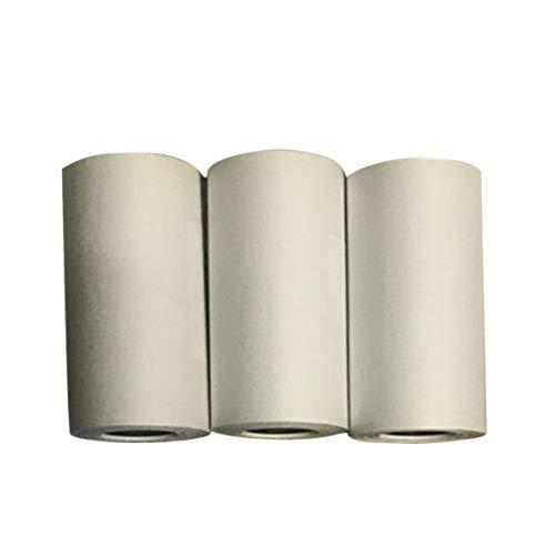 Heaviesk 3 rollos de papel adhesivo imprimible durable Papel térmico directo Autoadhesivo para accesorios de impresora fotográfica PAPERANG Mini