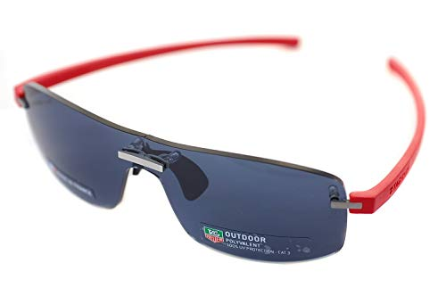8456d571f74 TAG HEUER RIMLESS REFLEX TH3591 102 Mens Sport Sunglasses PALLADIUM  ROUGE SILVER RED GREY