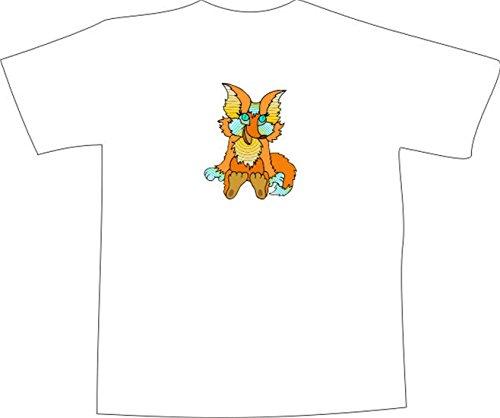 T-Shirt E909 Schönes T-Shirt mit farbigem Brustaufdruck - Logo / Grafik - Comic Design - lustiges kleines Fuchs Baby Schwarz