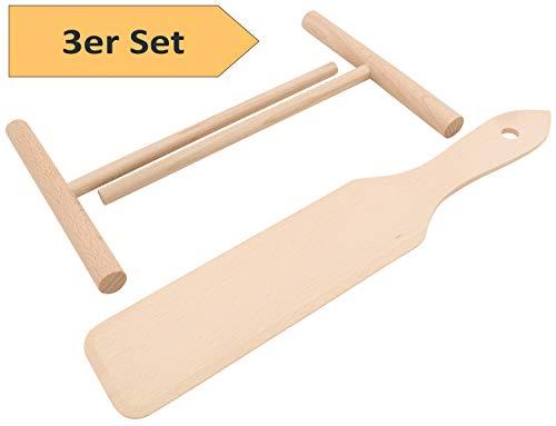 Zwei Crepes Verteiler und ein Crepes-Wender im SET Das Werkzeug für Crêpes Pfannkuchen Pancake Palatschinken sofort einsatzbereit