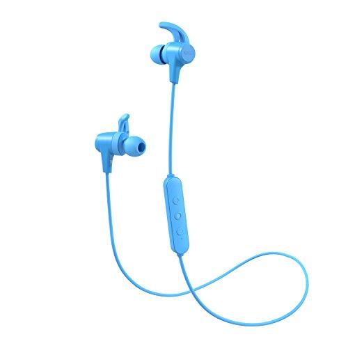 Aukey cuffie bluetooth auricolare wireless sport con aptx, 8 ore di tempo di utilizzo, ipx4 resistente al sudore, microfono incorporato per huawei, iphone, samsung