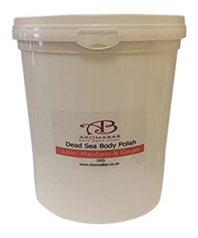 Dead Sea Body Polish Scrub 1kg with Shea Butter, Lime, Mandarin & Ginger 100% Pure & Natural Packed with minerals and