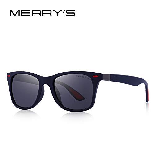 Sonnenbrillen. Männer Frauen Classic Retro Niet Polarisierte Sonnenbrillen Leichteres Design Quadratischen Rahmen 100% Uv-Schutz Reisen Sport Staubdicht Dunkelblau