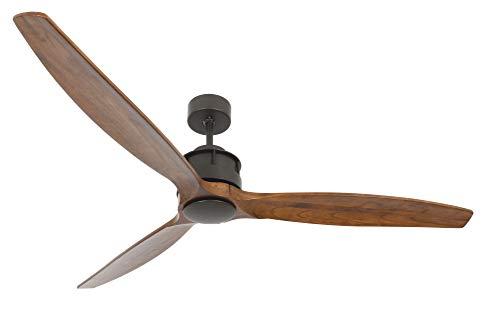 Dunkle Bronze Air (Lucci air Airfusion Akmani Design-Deckenventilator, 156 cm Durchmesser, ORB, ECO-DC-Motor energiesparend (35 W), mit Fernbedienung (6 Stufen))